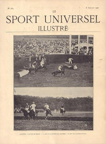 BOUND VOLUME LE SPORT UNIVERSEL ILLUSTRE N° 259 (06.07.1901) to N° 284 (28.12.1901)