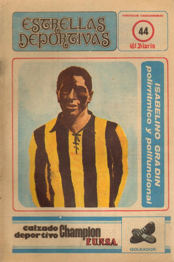 Isabelino Gradín avec le maillot jaune et noir de Peñarol